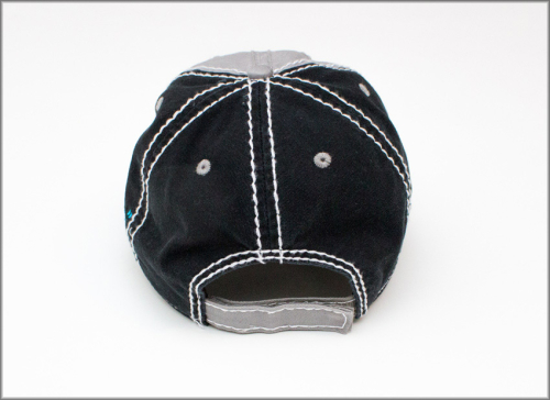 Embroidered Ragged Hat Back